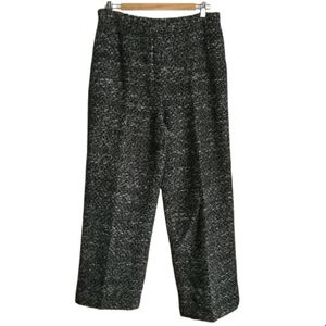 LAFAYETTE 148 Black & White Classic Wool Lined Tapered Trouser Pants Size 12